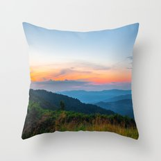 the beauty of the mountains Throw Pillow