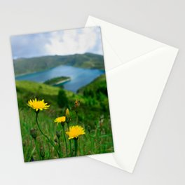 Fogo crater Stationery Cards