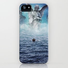 path of redemption     surrealism, lllustration, statues, scifi, space, sea iPhone Case