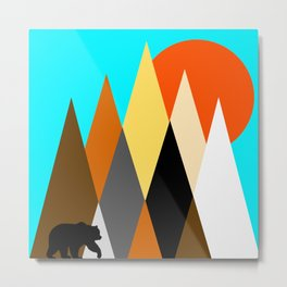 Bear mountains to celebrate bear pride and the great outdoors Metal Print