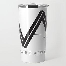 Versatile Assassins Logo - black on white Travel Mug