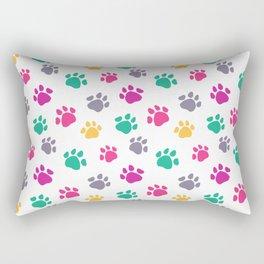 Colorful jaguar paw print Rectangular Pillow