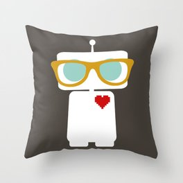 Quirky Robots Throw Pillow