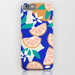Mediterranean Summer / Lemons and Leaves iPhone Case