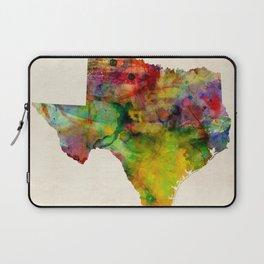 Texas Watercolor Map Laptop Sleeve