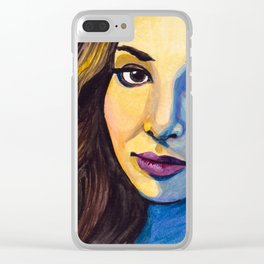 Meaghan Watercolor Clear iPhone Case