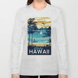 Vintage poster - Hawaii Long Sleeve T-shirt