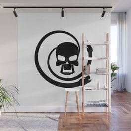 Skull with snakes Wall Mural