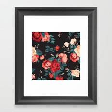 Vintage Flowers Framed Art Print
