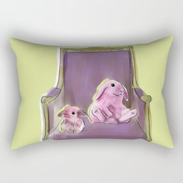 animals in chairs #13 Bunnies Rectangular Pillow