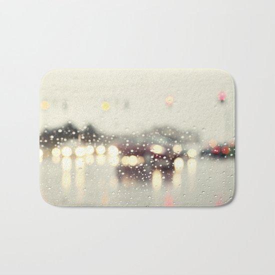driving in the rain Bath Mat
