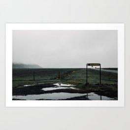 Iceland Road Art Print