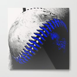 Baseball Pop Art 1 Metal Print