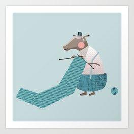 It's time to start knitting Art Print