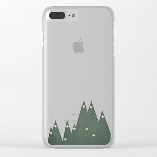 Moonlit Peaks Clear iPhone Case