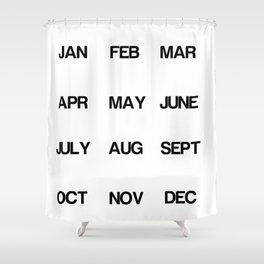 Calendar Shower Curtain