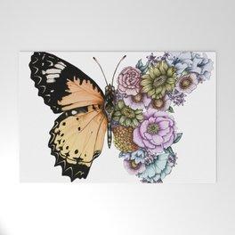 Butterfly in Bloom II Welcome Mat