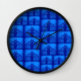 Blue Collar Workers Wall Clock
