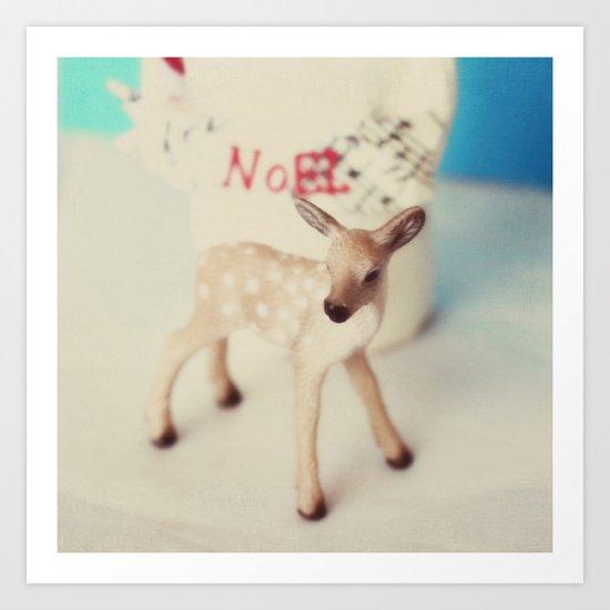 Noel deer Art Print