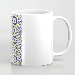 Middle Eastern Tile Pattern in Blue and Yellow #2 Coffee Mug