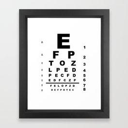 Eye Test Chart Framed Art Print