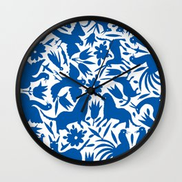 otomi blue Wall Clock