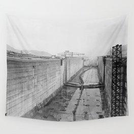 Panama Canal construction Wall Tapestry