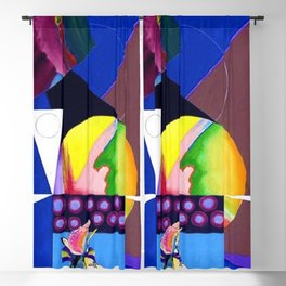 African American Masterpiece 'A Nutcracker' abstract landscape painting by E.J. Martin Blackout Curtain