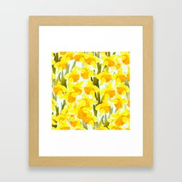 Spring Breeze With Yellow Flowers #decor #society6 #buyart Framed Art Print