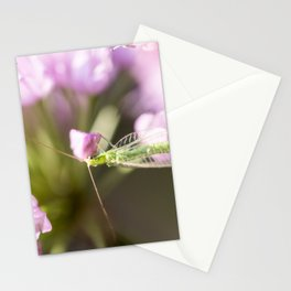 Green Lacewing on Allium - Onion Flower 1 Stationery Cards