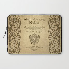 Shakespeare. Much adoe about nothing, 1600 Laptop Sleeve