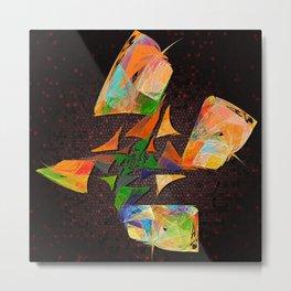 Flutter - squared Metal Print