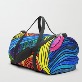 Psychedelic Lines Duffle Bag
