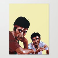 scarface Canvas Prints featuring Scarface by Taylor Gonzales