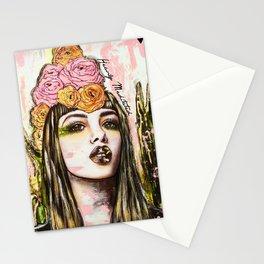 modern bohemian art heavily meditated Stationery Cards