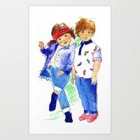 Maxine & Jimmy Art Print