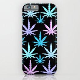 Marijuana Garden Pink Lavender Turquoise Aqua iPhone Case