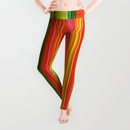 Rainbow Glowing Stripes Leggings