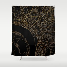 Vientiane map, Laos Shower Curtain