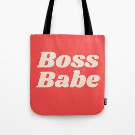 Retro Boss Babe - Coral Tote Bag