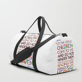Let the little children come to me Duffle Bag