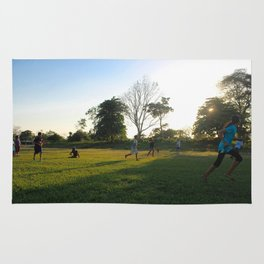 Football in Indian Church, Belize Rug
