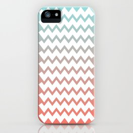 Chevron on Peach Echo and Limpet Shell Gradient iPhone Case