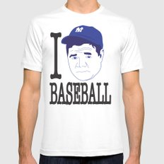 I __ Baseball Mens Fitted Tee LARGE White