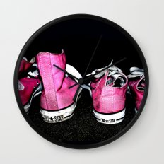 Pink Shoes Wall Clock