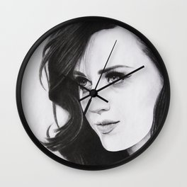 Perry Katy Pencil Portrait. Wall Clock