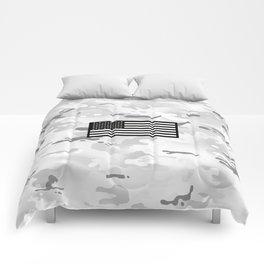 Arctic Camouflage: Black Flag Comforters
