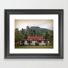 Island House Framed Art Print