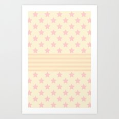 Pat stars Art Print