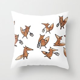 Lots of Freddy Foxes Throw Pillow